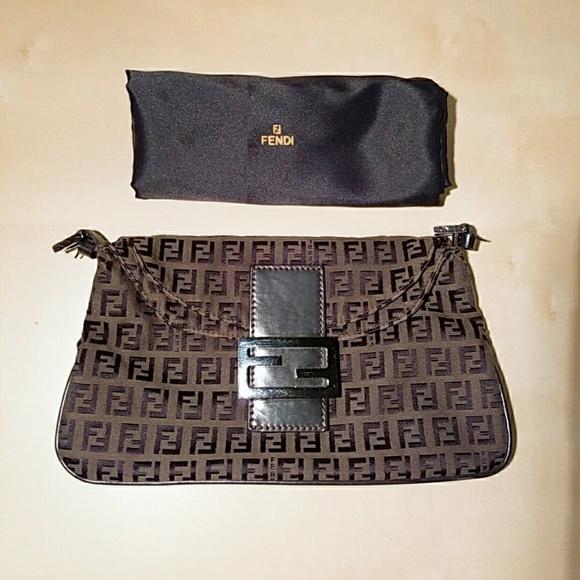80f81b91e4e2 Fendi Handbags - FENDI Zucca Baguette Bag